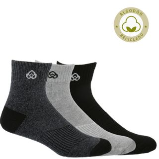 Pack 3 Calcetines Hombre Mid Cut Recycl