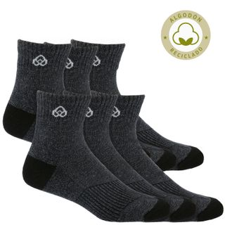 Pack 6 Calcetines Hombre Mid Cut Recycl